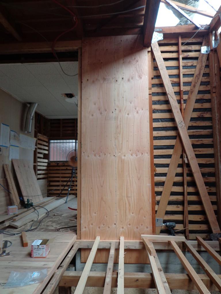 耐震補強で進化した家 case1 耐震補強リノベーション耐震補強05