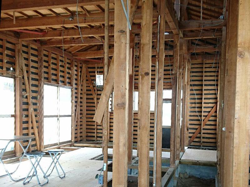 耐震補強で進化する「泉田の家」第2回 解体後見学会 002